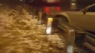 Motorists stranded on I-70 after ice causes crashes - Video