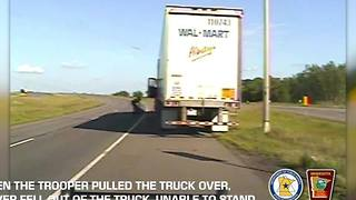 VIDEO: Dashcam captures dangerous drunk driver behind wheel of semi-truck - Video