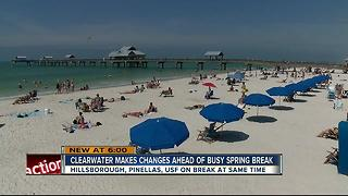 Clearwater makes changes ahead of busy Spring Break - Video