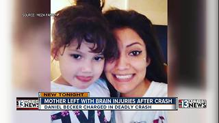 Young mother remains hospitalized after massive crash