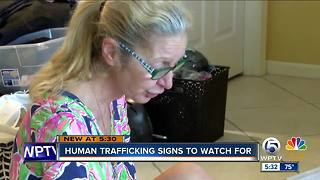 Human trafficking signs to signs to watch for - Video