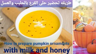 How to prepare pumpkin ornaments with milk and honey