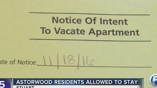 Astorwood residents allowed to stay