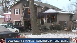 Two families displaced after Olathe duplex fire - Video