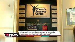 Displaced homemaker program in jeopardy - Video