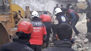 Rescue Crew Reports Three Pulled Alive From Rubble After Deadly Car Bomb Attack - Video