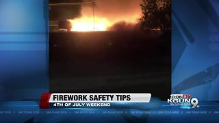 Firefighters urging people to be careful with fireworks this 4th of July - Video