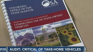 Audit says Colorado taxpayers on hook for about $1.5 million in take-home vehicle costs from state - Video