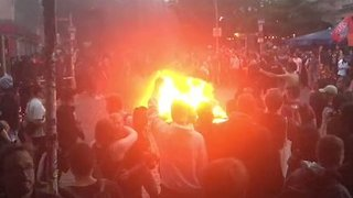 Fires Burn in Hamburg as Anti-G20 Protests Continue - Video