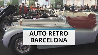 Vintage madness at Auto Retro Barcelona motor show - Video