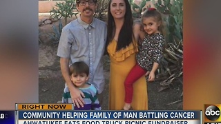 Community helping cancer patient and his family - Video