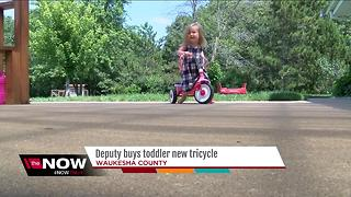 Waukesha County deputy buys toddler new tricycle - Video