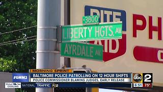 Baltimore Police Department enacts 12-hour shift - Video