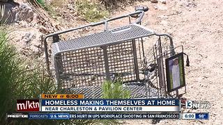 Costco removes homeless camp from Summerlin park - Video