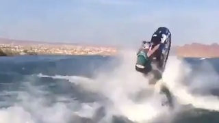 Crazy double backflip on jet ski - Video