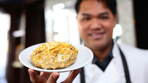 The $100 Luxury Donut Made With Gold and Cristal Champagne
