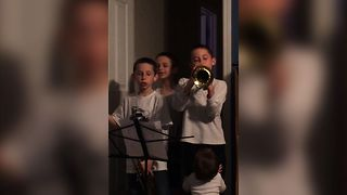 Baby Sister Says No To Trumpets - Video