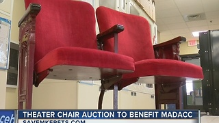 Historic 1927 Riverside Theatre chairs up for auction, proceeds to benefit homeless animals - Video