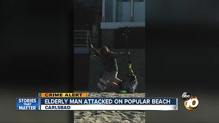 Elderly man attacked on popular beach - Video