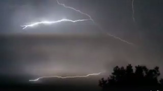 Slow-Motion Lightning Crawls Across Gold Coast Sky - Video
