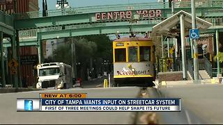 City of Tampa wants input on streetcar system - Video