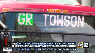 BaltimoreLink starts second week, riders not impressed - Video