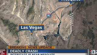 Man dies after rear-ending semi-truck on Interstate 15 near Mesquite - Video
