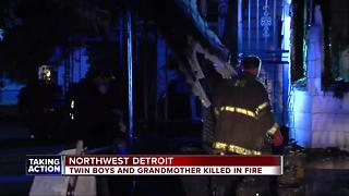 Twin boys and grandmother killed in fire - Video