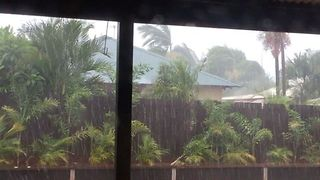 Torrential Rain Drenches Broome During Cyclone Hilda - Video