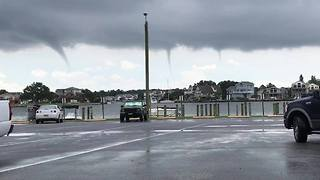 Waterspouts Dip Into Outer Banks - Video