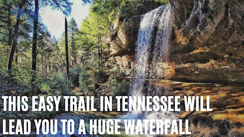 This Easy Trail in Tennessee Will Lead You To A Huge Waterfall With A Turquoise Pool