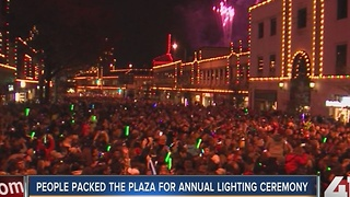 People packed the Plaza for Lighting Ceremony - Video
