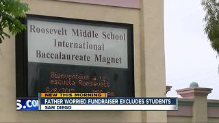 Dad believes fundraiser at San Diego middle school could unfairly exclude students - Video