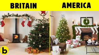 Christmas in USA & UK Is Different Even The Lights & Tree