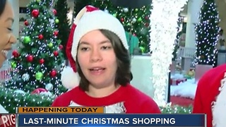 Last-minute shoppers took on the Woodland Hills Mall starting early Saturday morning to check some items off of their families' Christmas lists. - Video