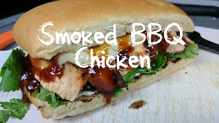 Smoked BBQ Chicken Sandwich Recipe on the Weber Kettle - Video