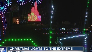 Christmas lights to the extreme - Video