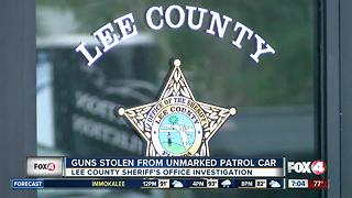 Guns stolen from unmarked patrol car - Video