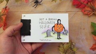 'Boring Halloween Selfie' Flipbook Has a Big Surprise - Video