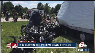 Two children killed in crash on I-70 near Terre Haute - Video