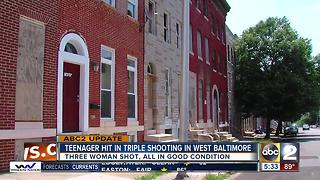 2 women, teen girl shot in west Baltimore - Video