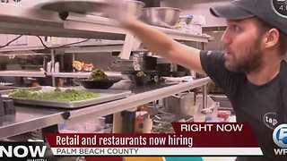 Retail and restaurants now hiring - Video