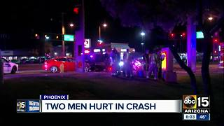 Two drivers hurt after Tempe crash - Video