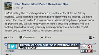 Hilton Hotel Closed due to Electrical Fire - Video