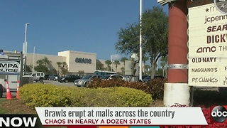 Brawls erupt at malls across the country - Video