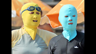 Facekini Craze Sweeps China - Video