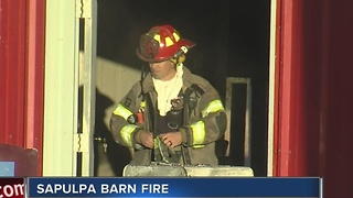 Sapulpa Barn Fire - Video