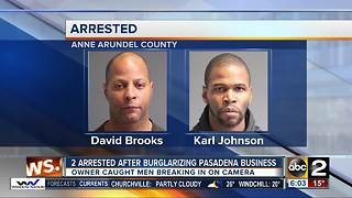 Men arrested after getting caught on camera burglarizing Pasadena business - Video