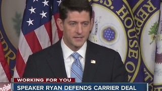 Politicians speak out about Carrier Deal - Video
