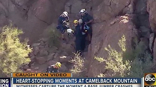 BASE jumper injured during landing at Echo Canyon - Video